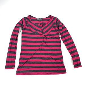 Cute Pink and Dark Grey top by Bitten